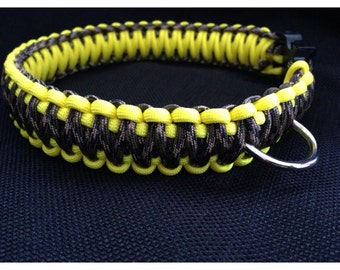 Traditional Camoflauge with Yellow Paracord Collar (custom size)
