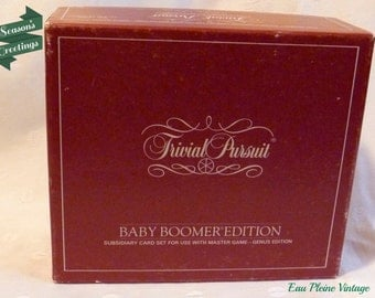 Trivial Pursuit Baby Boomer Edition 1983 Adult Card Game Subsidary Set