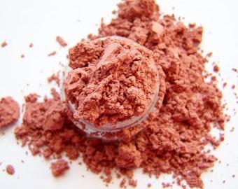 Mineral Eye Shadow -  Golden Coral Eyeshadow - Coral Eyeliner - Vegan Shadow - Vegan Makeup - Mineral Eyeshadow - Mineral Eyeliner