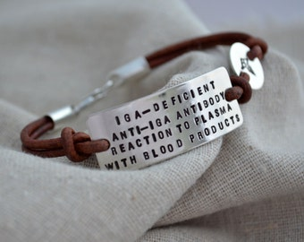 Four Line Medical Alert Bracelet - Personalize - Customize