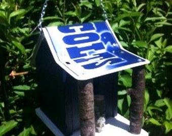 Indianapolis Colts Rustic License Plate Birdhouse