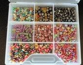 Eclectic  Beads Moons Stars in Container Destash Bundles