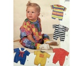 Infant Rompers Knits Pattern McCall's 6254 Baby Clothes