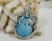 Turquoise Pendant Wire Wrap Pendant  Wire Wrapped Cabochons Turquiose Jewelry Wirework Jewelry