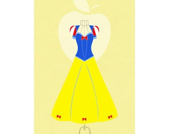 Princess Wardrobe: Snow White's Dress Minimalist Poster
