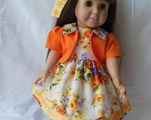 American Girl Doll, 18 inch Doll Clothes, Handmade Doll Clothes
