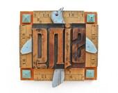 SING sign, bathroom art, wooden letters, letterpress type,  by Elizabeth Rosen