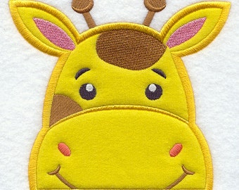 Peeking Giraffe Appliqued Embroidered Patch, Sew or Iron on