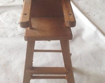 Shackman Vintage Miniature Dollhouse High Chair