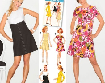 Simplicity 3833 Ladies Retro Dress from 1960s. Pattern only 5.99