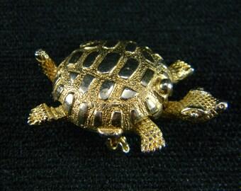 Helena Rubenstein Turtle perfume compact brooch Private Island