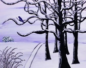 winter greeting card, frozen, fairy door card, blank inside, winterwonderland