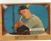 1955 Bowman Baseball Card, Gil McDougald, New York Yankees Infielder, card 9