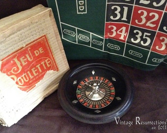 Antique French Roulette Game