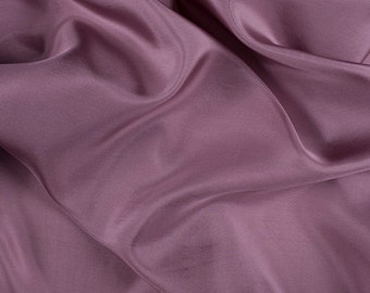 """45"""" Wide 100% Silk Crepe de Chine Mauve Pink By the Yard"""