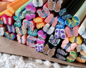 5 cm Long Polymer Clay Cane / Fimo Cane Stick / Miniature Food / Dessert / Cake / Decoration and Nail Art / Patterns as per picture  (.sg)