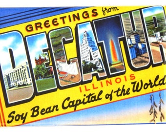 Greetings from Decatur Illinois Fridge Magnet