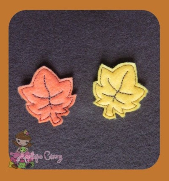 Autumn leaf  feltie design