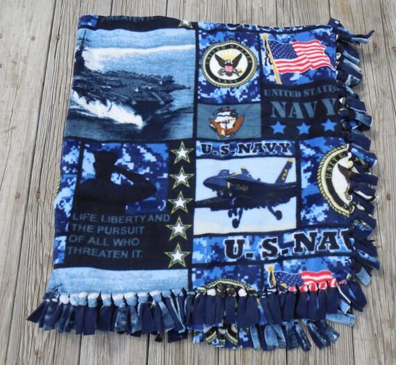 Military Us Navy New Digital Print Custom Made Fleece Blanket