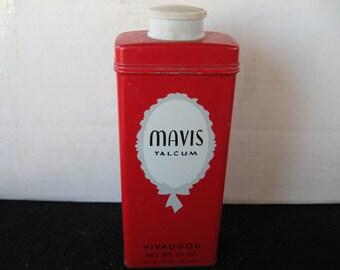 Vintage Vivaudou Mavis Talcum Powder Tin