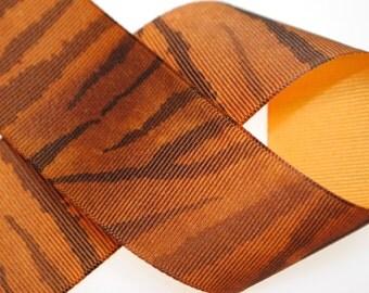 Zebra Print Grosgrain 1.5 inches wide - Four Yards