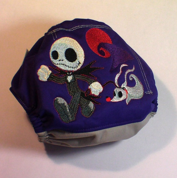 """One Size Cloth Diaper """"Nightmare Before Christmas"""""""