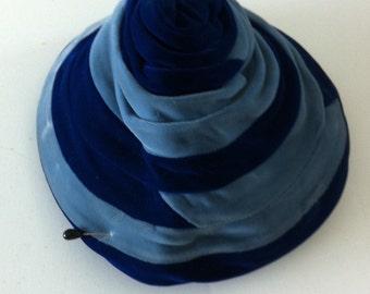 Marshall Fields hat- Ladies hat- velvet hat- bee hive hat- turban - downtown abbey
