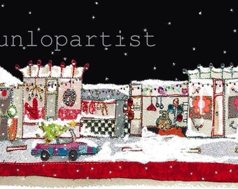 Christmas High Street - Christmas Cards PACK of 10, message inside 'Merry Christmas!!'