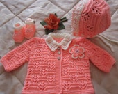 Little Princess Outfit, with a Cap, Jacket and Shoes ( pink / white or yellow / white )