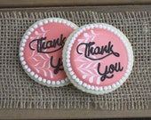 Bridal Shower Favors / Baby Shower Favors / Gifts for Mom / Mothers Day Gifts / Thank You Gifts / Thank You Sugar Cookies - 12 cookies