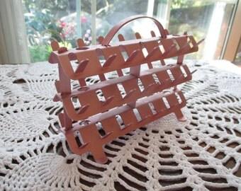 Vintage Zierold Mfg. Co. Aluminum Thread Caddy