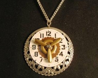 steampunk necklace Timed Gears
