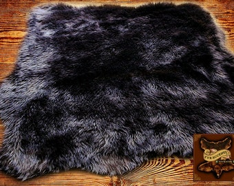 Faux Fur Accent Rug  - Random Shape Sheepskin Area Rug - Scalloped Edges - by Fur Accents