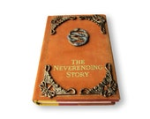 The Neverending Story book Leather dust cover