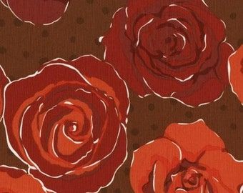 "Olive Rose Red Floral Roses fabric by Valorie Wells for FreeSpirit fabrics 54"" wide"