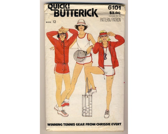 vintage 1970s butterick 6101 womens workout clothes