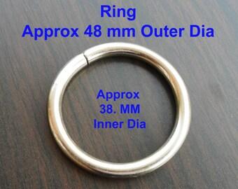 Steel O rings handbag collar Nickel Plated  craft