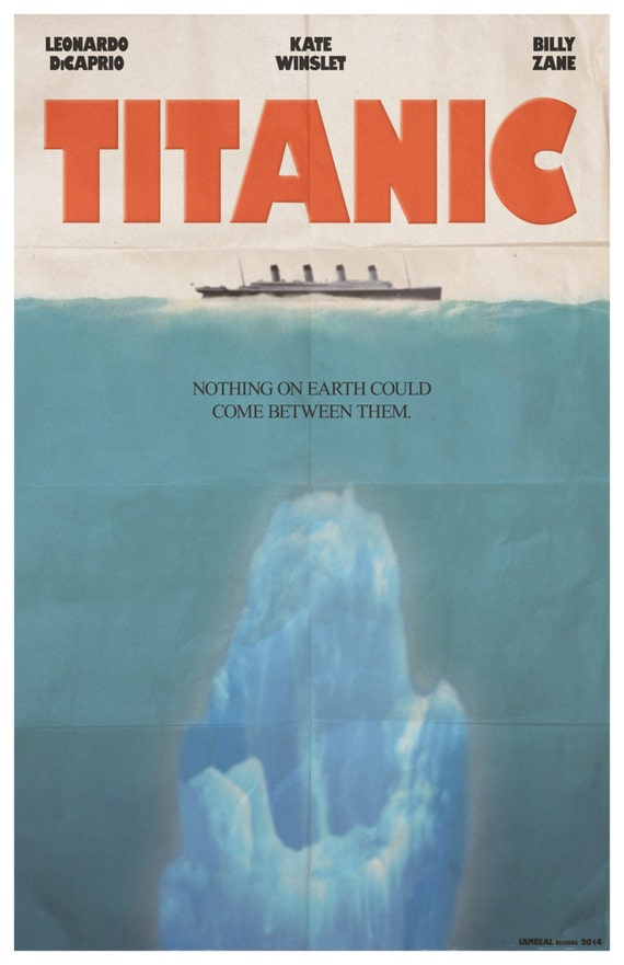 TITANIC 1997 11x17 movie poster JAWS parody