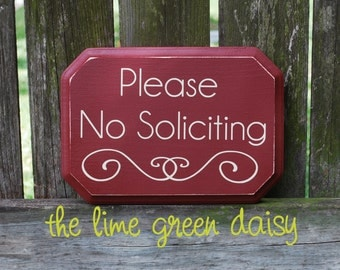 Please No Soliciting Sign