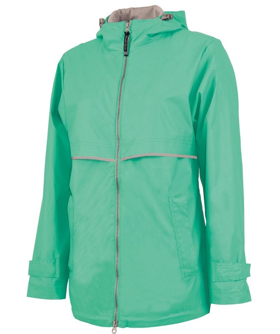 Items similar to womens embroidered monogrammed rain