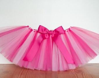 Pink 'Anita' tutu shades of pink hot pink light pink toddler girls tutu dress up skirt photo prop birthday 2T 3T 4T bubblegum shocking pink