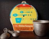 SALE 60's Vintage Kitchen Komputer - Recipe Converter.