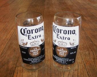 Corona bottle tumbler set of 2