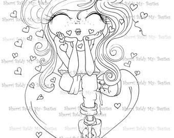 INSTANT DOWNLOAD Digital Digi Stamps Big Eye Big Head Dolls Bestie  img487 My Besties By Sherri Baldy