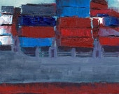 Hamburg Container Ship - original oil painting