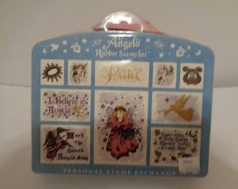 Peace Christmas Rubber Stamp Kit