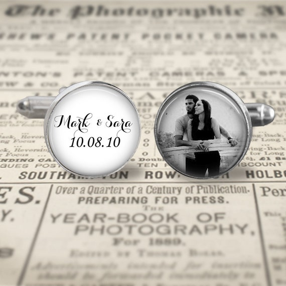 Custom Groom Cufflinks,Custom Photo Accessories, Wedding Cufflinks, Father Of The Bride