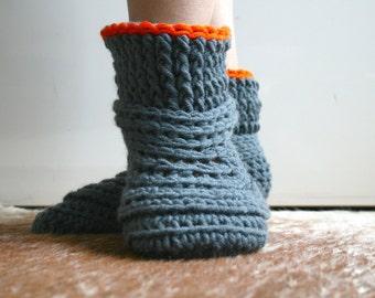 Crochet Pattern, crochet slipper pattern, Lazy Sunday Home shoes crochet pattern 185