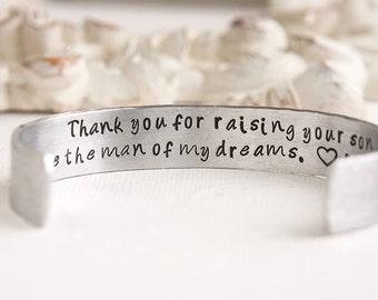 Mother of the Groom Gift - Thank You for Raising the Man of My Dreams - Gift from Bride to Mother in Law - Mother in Law Wedding Gift