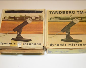 Vintage Audio Gear Pair of TANDBERG TM-4 Dynamic Microphone - TWO mics available  - Great Blues Harp Microphone
